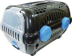 Caixa de transporte luxo N3 - Black com azul - Furacao Pet - 60x40x36,5cm - até 12kg