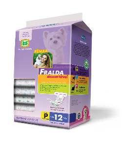Fralda descartavel P - American Pet's - com 12 unidades - 44x32cm