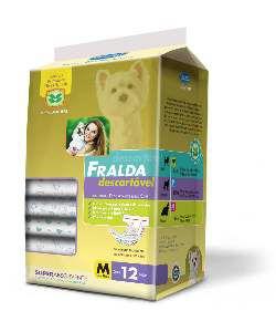 Fralda descartavel M - American Pet's - com 12 unidades - 48x35cm