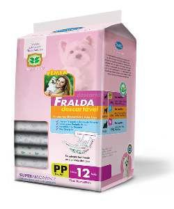 Fralda descartavel PP - American Pet's - com 12 unidades - 39x30cm
