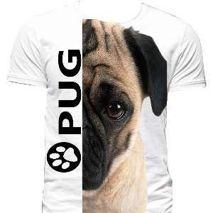 Camiseta poliester pug GG - Club Pet Dantas - 77x58cm