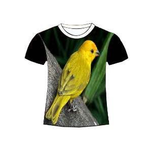 Camiseta poliester canario G - Club Pet Dantas - 70x50cm