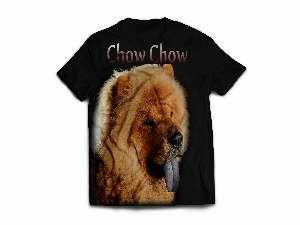 Camiseta poliester chow chow M - Club Pet Dantas - 64x50cm