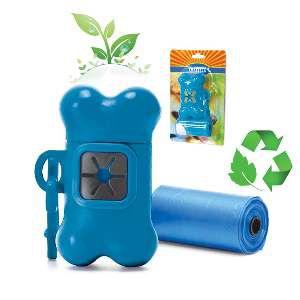 Kit Higiene para Coleira com 2 rolos com 20 saquinhos cada - Chalesco - 11,5x6cm