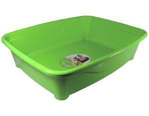 Bandeja higienica plastico classic para gatos - Furacão Pet - Verde - 45x36x13cm