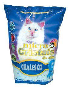 Areia higienica silica com micro cristais para gatos - Chalesco - 1,8 kg - com 8 unidades