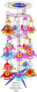 Bebedouro plastico beija-flor kiss - Plast Pet - display com 24 unidades - 13x12x4cm