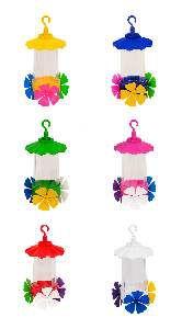 Bebedouro plastico para beija-flor premium rosa 220ml - Jorani - 5x20cm