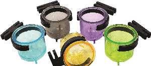 Porta vitamina plastica coleiro colorida 14ml - Humberald - 3x3cm