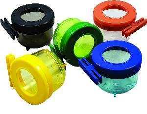 Porta vitamina plastica com tampa colorida 50ml - Humberald - 5x4cm