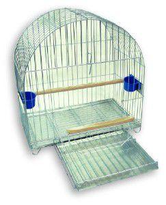 Gaiola arame e chapa de aco arco duplex para papagaio - Londrigaiolas - 50x50x33cm