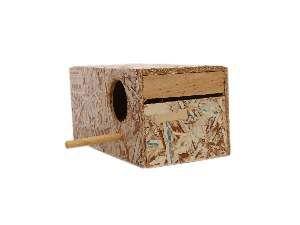 Ninho ecologico periquito - Club Pet Recriar - 9,5x9x20cm
