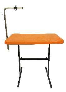 Mesa para tosa com suporte aco laranja - Click New - 91x61x83cm - prancha: 5cm