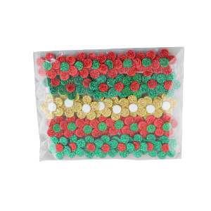 Laco EVA natal flor M - Fernandes Laços - com 40 unidades