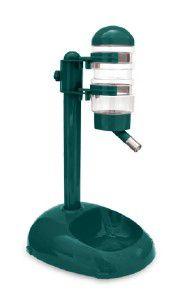 Bebedouro plastico automatico com suporte e comedouro - Chalesco - 24x14x39cm - 450ml/250g