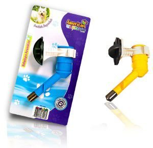 Bico bebedouro inox automatico para caes - American Pet's - 15x5x10cm