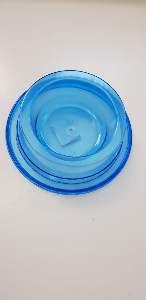 Comedouro plastico anti formiga azul 300ml - Pet Toys - 17x5cm