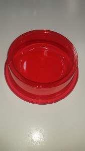 Comedouro plastico anti formiga com glitter vermelho 1900ml - Pet Toys - 22x8cm