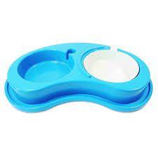 Comedouro Antiformiga Automático Luxo Pequeno - Furacão Pet - Azul