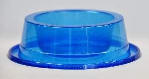 Comedouro plastico filhote com glitter azul 300ml - Pet Toys - 8x6cm