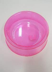 Comedouro plastico exclusiva rosa 1900ml - Pet Toys - 22x8cm