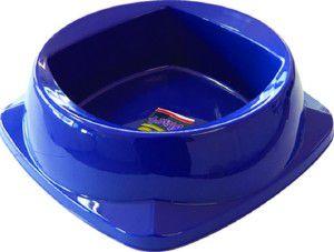 Comedouro plastico zooplast grande 1600ml  - Plast Pet - 25x25x8cm