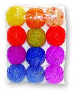 Brinquedo guizo bola pequena - Luna & Arreche - display com 12 unidades - 5cm