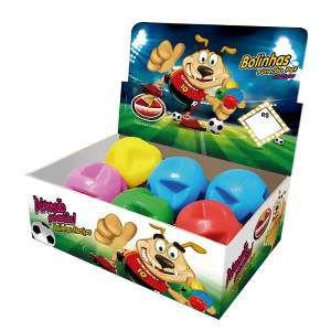 Brinquedo macico super ball - Furacao Pet - display 06 unidades - 80mm