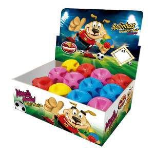 Brinquedo macico bola super ball - Furacao Pet - display 12 unidades - 60mm