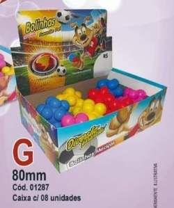 Brinquedo macico bola meteoro colorida - Furacao Pet - display 8 unidades - 80mm