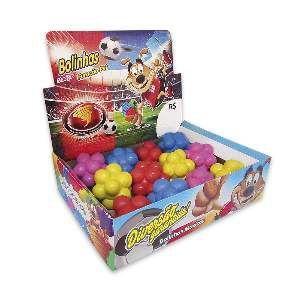 Brinquedo macico bola meteoro colorida - Furacao Pet - display 12 unidades - 60mm