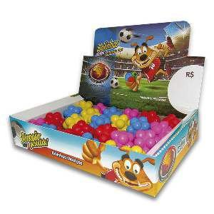 Brinquedo macico bola meteoro colorida - Furacao Pet - display 24 unidades - 45mm