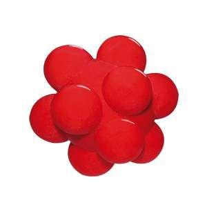 Brinquedo macico bola meteoro colorida - Furacao Pet - 80mm