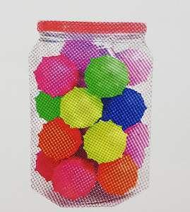 Brinquedo macico bola cravo 45 mm - Pet Toys - com 24 unidades