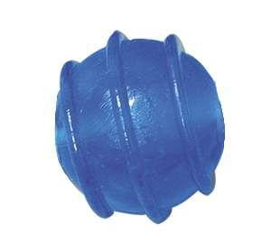 Brinquedo macico flexivel bola porta ossinho colorida 50mm - Furacao Pet - 5x5x5cm