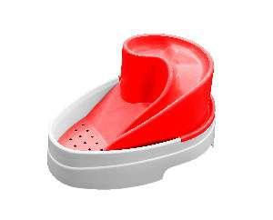 Fonte plastica automatica tobo fonte vermelha bivolt 2,5L - MEC PET - 38x27x19cm