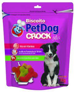Biscoito crock mix 1kg - Pet Dog