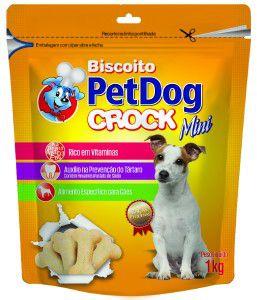 Biscoito crock mini 1kg - Pet Dog