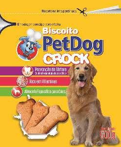 Biscoito crock tradicional 500g - Pet Dog
