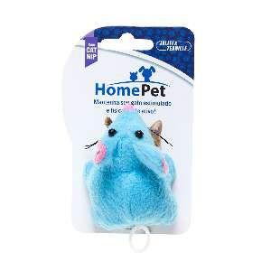 Brinquedo 2 Ratinhos de Pelúcia com Catnip - Home Pet - 7,5 cm