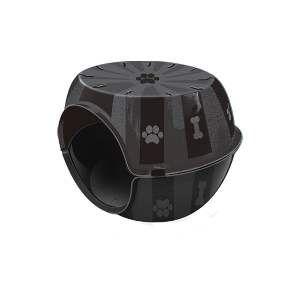 Toca do gato plastico paris black - Furacao Pet - 53x41x40cm