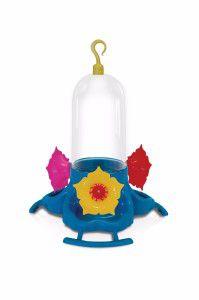 Bebedouro plastico para Beija-Flor Pop 3 Flores sem Chapéu 260ml - Plast Pet - 16x16,8x22cm