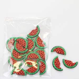 Adesivos aplicaveis melancia - Fernandes Laços - 20 unidades - 13x9x2cm