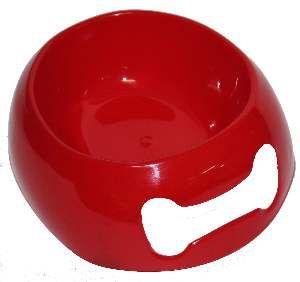 Comedouro soft medio vermelho 900ml - Club Still Pet - com 6 unidades - 24,03x8x21,3cm