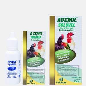Antibacteriano liquido avemil 20ml - Indubras - 3,5 x 3,5 x 8,6 cm