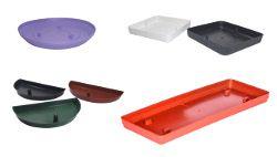 Base plastica para vaso de parede preta - Big Plast - 14,5x7,5x1,5cm