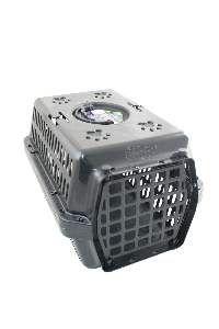 Caixa transporte plastica preta N4 - Club Pet Alvorada - 61,5x42x36cm