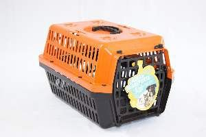 Caixa transporte plastica laranja N1 - Club Pet Alvorada - 45x30x27cm