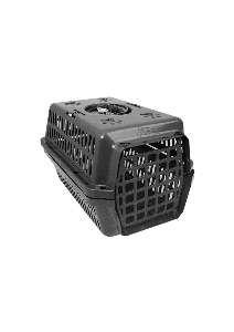 Caixa transporte plastica preta N1 - Club Pet Alvorada - 45x30x27cm