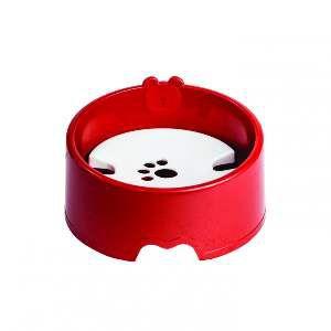Bebedouro plastico para pelos longos vermelho - Club Pet Maxx - 21x21x6cm